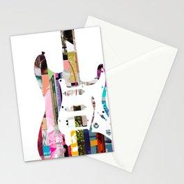 Electric Guitar | Magazine Strip Art Stationery Cards