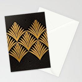 Art Deco Luxurious Gold and Ebony Black Elegant Design Stationery Cards