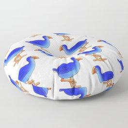 Prancing Pukeka. Native New Zealand Birds - swamphen - cute birds - blue birds Floor Pillow