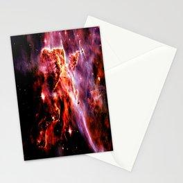 Burgundy Purple Orange Galaxy Nebula Stationery Cards