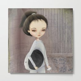 The fencer Metal Print