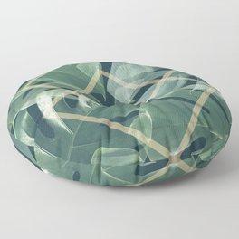 Earthly Green Monsteras Floor Pillow