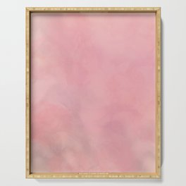Flamingo, Abstract Art Serving Tray