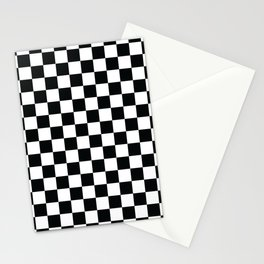 Chequered Flag Pattern Stationery Cards