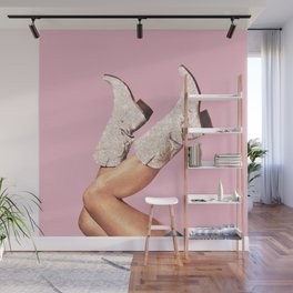 These Boots - Glitter Pink Wall Mural