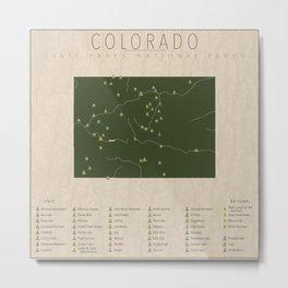 Colorado Parks Metal Print