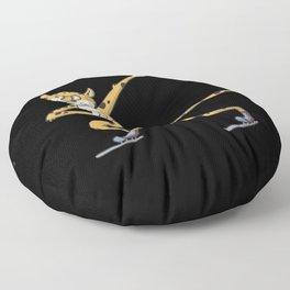 Speed Skating Cheetah Floor Pillow