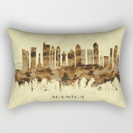 Manila Philippines Cityscape Rectangular Pillow