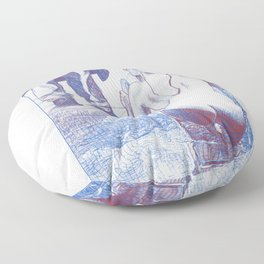 asc 858 - L'investigation privée (The private eye) - sketch Floor Pillow
