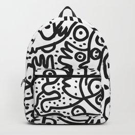 Black and White Graffiti Street art Ink Marker  Backpack