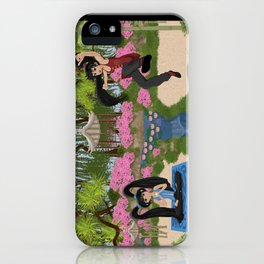 Karma and Dharma Girls in Chinese Garden iPhone Case