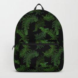 Fern Fronds (Black Glow) - Sage Backpack