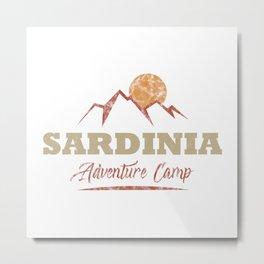 Sardinia Camping  TShirt Adventure Camp Shirt Camper Gift Idea Metal Print