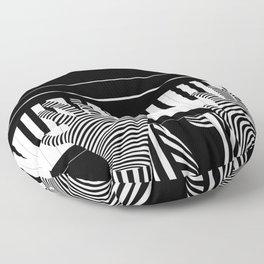 B&W Pianist Floor Pillow