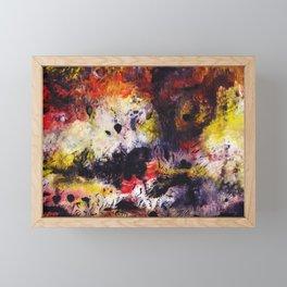 Fire and blood Framed Mini Art Print