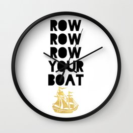 ROW ROW ROW YOUR BOAT - Children song Wall Clock
