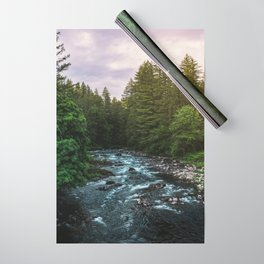 PNW River Run II - Pacific Northwest Nature Photography Wrapping Paper