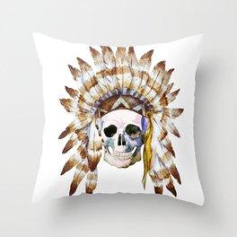 Skull 01 Throw Pillow