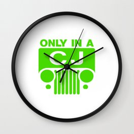 Only One CJ Wall Clock