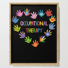 Occupational Therapy OT Therapist Serving Tray