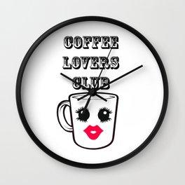 Coffee lovers Club Wall Clock