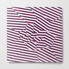 Mulberry Strip - Voronoi Stripes Metal Print