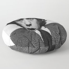 Jagger zigzag hand drawn half tone Floor Pillow