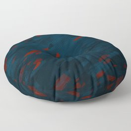 Girl on fire | Digital art | Multirealism Floor Pillow