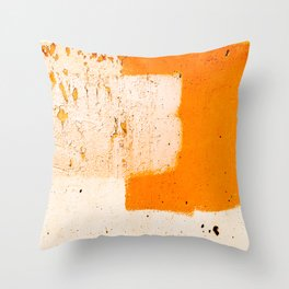 Stonewall in Pale Vermilion and Peach Throw Pillow
