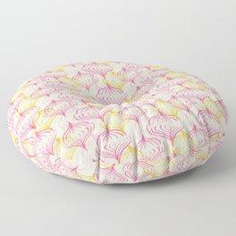 Pink and Orange Lanterns fantasy  Floor Pillow