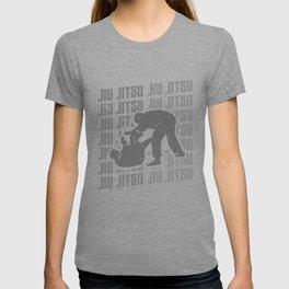 Jiu Jitsu Repeat Combat Grappler Silver T-shirt