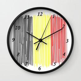 Belgian flag Wall Clock