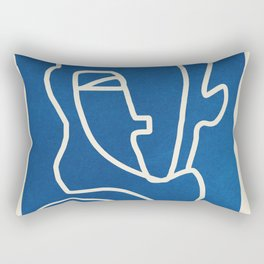 Abstract Minimal Woman Portrait Rectangular Pillow
