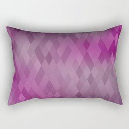 Mauve Purple Geometric Diamond Pattern Ombre Rectangular Pillow