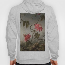 Passion Flowers With Hummingbirds 1883 By Martin Johnson Heade | Reproduction Hoody
