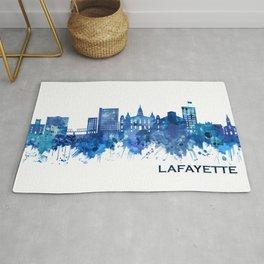 Lafayette Louisiana Skyline Blue Rug