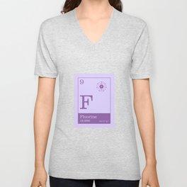 Periodic Elements - 9 Fluorine (F) Unisex V-Neck
