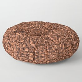 Brown Orange Copper Bronze Texture Motif Floor Pillow