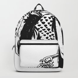 Suicide skeleton illustration Backpack