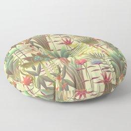 Bioluminescent Jungle, day version Floor Pillow