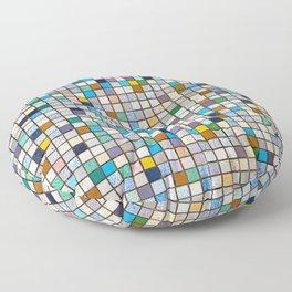 Multicolor Tiles Square Geometric Mosaic Pattern Floor Pillow