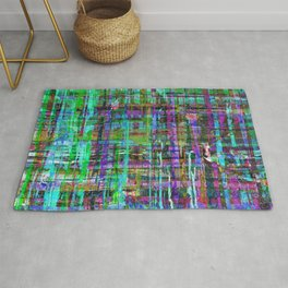Abstract Distressed Stripes Multi-coloured 1211 Rug