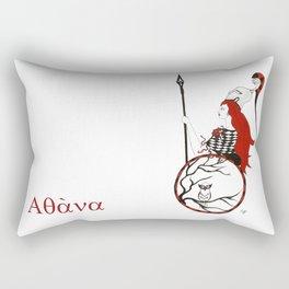 The Lady Athena, Goddess of Wisdom and War Rectangular Pillow