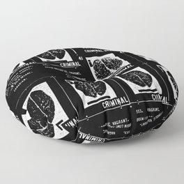 Criminal Brains Floor Pillow