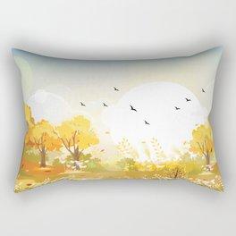 Windy Autumn Day Rectangular Pillow