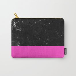 Pink Meets Black Marble #1 #decor #art #society6 Carry-All Pouch