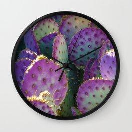 Colorful Purple Cactus - Photograph Wall Clock