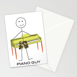 Funny Mens Piano Design, Boy Music Gifts, Piano Guy Stationery Cards