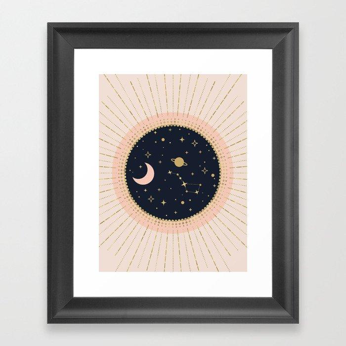 Love in Space Gerahmter Kunstdruck