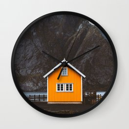 Yellow Cabin Wall Clock